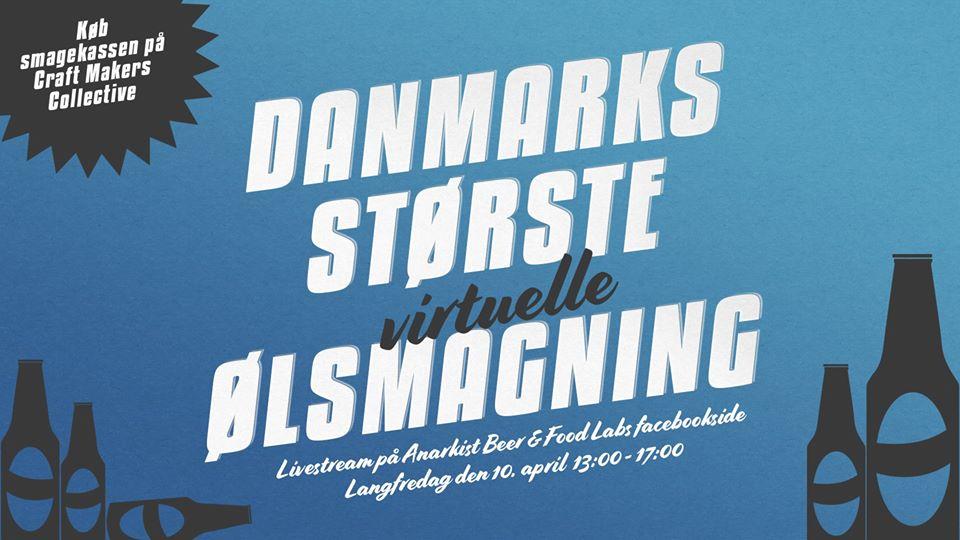 Du skal med til Danmarks største virtuelle ølsmagning