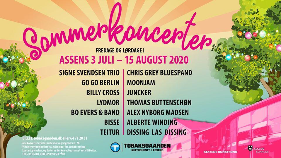 Se spilleplanen for Sommer Koncerter i Assens